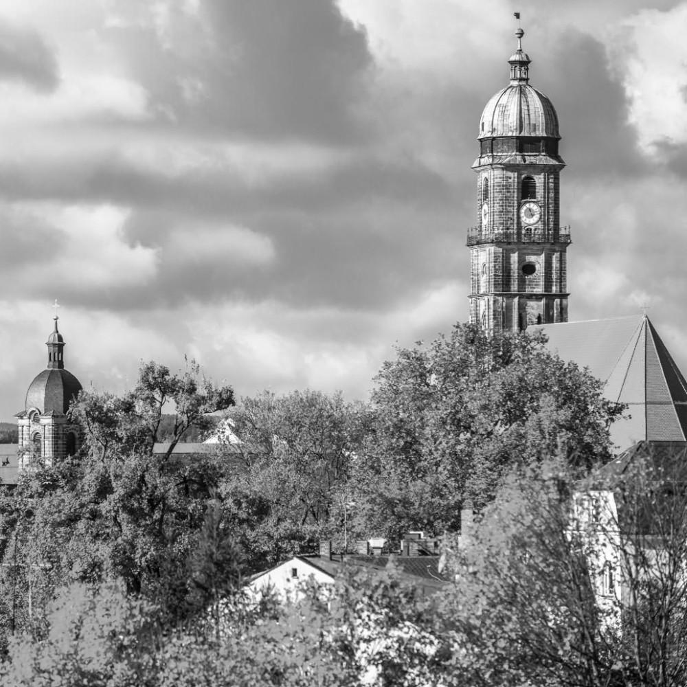 Kirchen in Amberg schwarz weiss